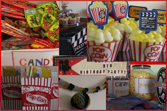 Smiling Snaps Movie Theme Birthday Party Ideas For Kids